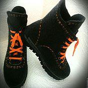Ботинки ручной работы. Ярмарка Мастеров - ручная работа Ботинки валяные мужские. Handmade.