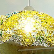 """Для дома и интерьера ручной работы. Ярмарка Мастеров - ручная работа Фьюзинг светильник """"А хотите кусочек лета?!!"""" ажурное стекло фьюзинг. Handmade."""