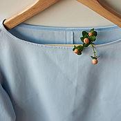 Одежда ручной работы. Ярмарка Мастеров - ручная работа Платье нежного голубого цвета из хлопка. Handmade.