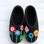 """Обувь ручной работы. Ярмарка Мастеров - ручная работа Домашние тапочки """"Лето"""".. Handmade."""