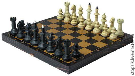 Настольные игры ручной работы. Ярмарка Мастеров - ручная работа. Купить Шахматы Айвенго (чёрно-золотые) ( 32349). Handmade.