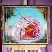 Картины ручной работы. Ярмарка Мастеров - ручная работа Зимняя вишня. Handmade.