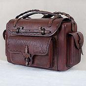 сумка из натуральной кожи  (кофр)