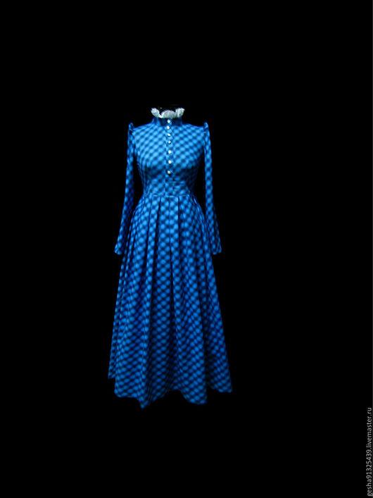 """Платья ручной работы. Ярмарка Мастеров - ручная работа. Купить Платье """"Поэтесса"""" в пол. Handmade. Синий, купить платье, оборки"""