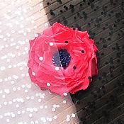 Материалы для творчества handmade. Livemaster - original item Japanese white and black veil with velvet polka dots, with flies. Handmade.