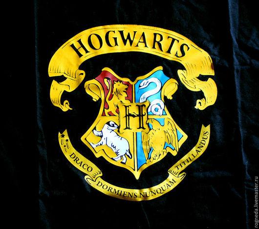 """Футболки, майки ручной работы. Ярмарка Мастеров - ручная работа. Купить Футболка """"Hogwarts"""". Handmade. Черный, поттериана, подарок ребенку"""