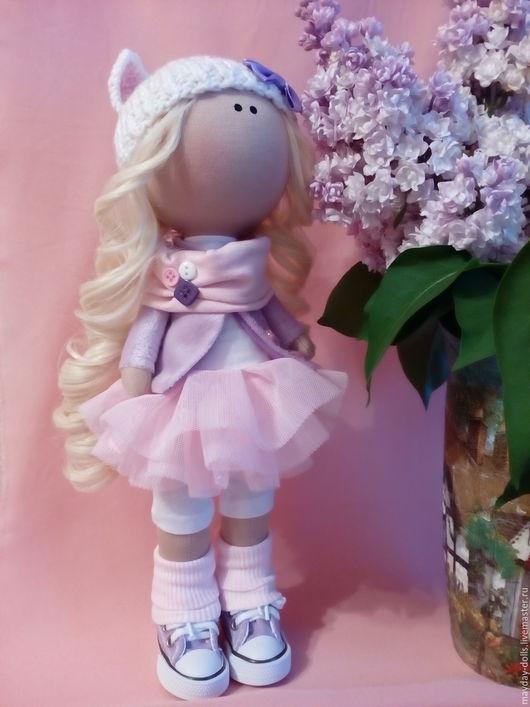 Куклы тыквоголовки ручной работы. Ярмарка Мастеров - ручная работа. Купить Интерьерная текстильная кукла большеножка Кисуня. Handmade. Комбинированный