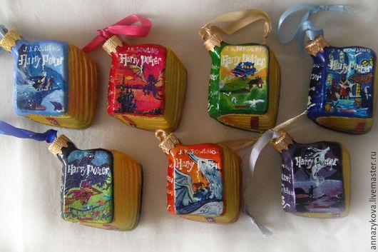 """Новый год 2017 ручной работы. Ярмарка Мастеров - ручная работа. Купить Книги """"Гарри Поттер"""". Handmade. Комбинированный, новогодний подарок"""