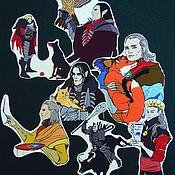Дизайн и реклама ручной работы. Ярмарка Мастеров - ручная работа Wild Hunt Stickers. Handmade.
