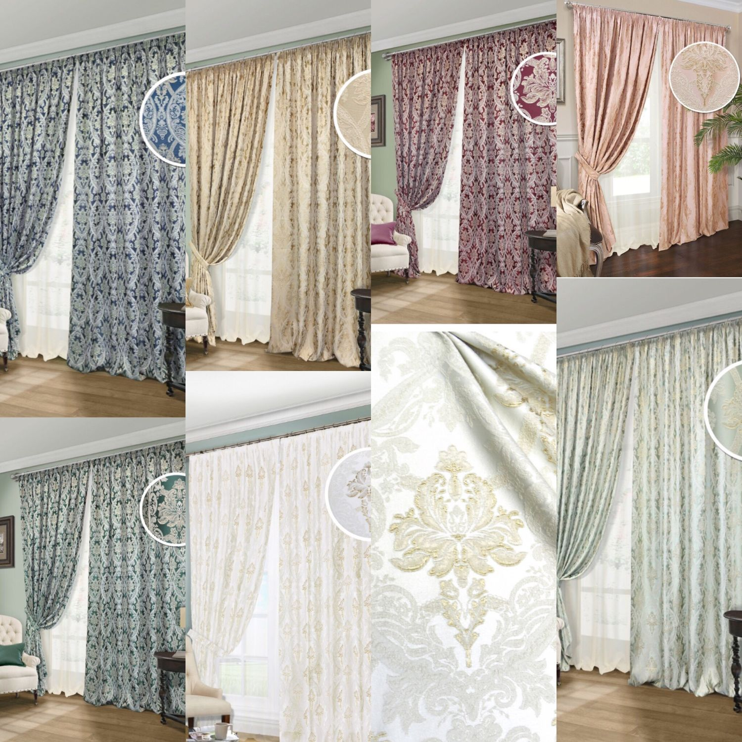 Set of curtains with tulle of elite Fabric 'Baron», Curtains, Mozhaisk,  Фото №1