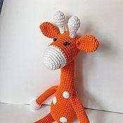 Мягкие игрушки ручной работы. Ярмарка Мастеров - ручная работа Жираф вязаный, подарок. Handmade.