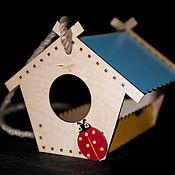 Для домашних животных, handmade. Livemaster - original item A bird feeder wood hanging