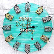 Для дома и интерьера handmade. Livemaster - original item Wall clock House-cute-house. Handmade.