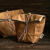 Для дома и интерьера ручной работы. Ярмарка Мастеров - ручная работа Пакет для ланча (из моющейся крафт-бумаги). Handmade.
