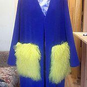 Одежда ручной работы. Ярмарка Мастеров - ручная работа Пальто с меховыми карманами.. Handmade.