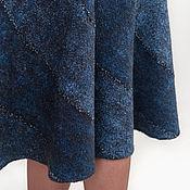 """Одежда ручной работы. Ярмарка Мастеров - ручная работа Валяная юбка-спираль """"Потертая джинса"""". Handmade."""