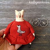 """Куклы и игрушки ручной работы. Ярмарка Мастеров - ручная работа """"Девочки-Мишки"""" Сумочные друзья. Handmade."""