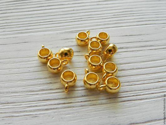 Бейлы для подвесок и кулонов, размер 8*5 мм, цвет Золото (арт. 2026)