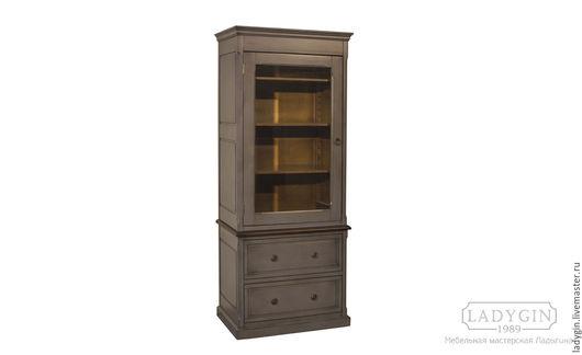 Мебель ручной работы. Ярмарка Мастеров - ручная работа. Купить Деревянный книжный шкаф с 2 ящиками. Handmade. Шкаф
