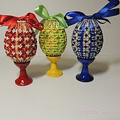 Сувениры и подарки handmade. Livemaster - original item The egg on the stand is Easter, Openwork. 4 Colors. Handmade.