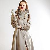 """Пальто ручной работы. Ярмарка Мастеров - ручная работа Дизайнерское женственное пальто """"Элегия"""". Handmade."""