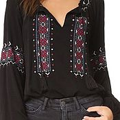 Одежда handmade. Livemaster - original item Copy of Women`s embroidered blouse ЖР4-084. Handmade.