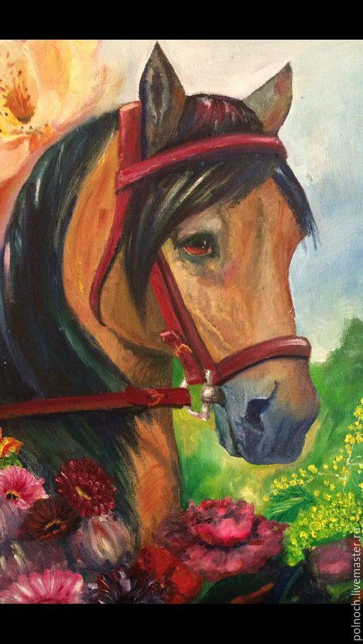 Животные ручной работы. Ярмарка Мастеров - ручная работа. Купить Лошадь картина маслом. Handmade. Комбинированный, лошадь сувенир