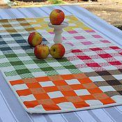 Для дома и интерьера ручной работы. Ярмарка Мастеров - ручная работа Клетчатая дорожка на стол. Handmade.