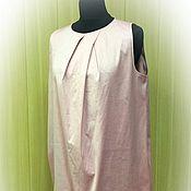 Одежда ручной работы. Ярмарка Мастеров - ручная работа Летнее платье из однотонного хлопка. Handmade.