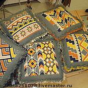 Для дома и интерьера ручной работы. Ярмарка Мастеров - ручная работа комплект диванных подушек. Handmade.