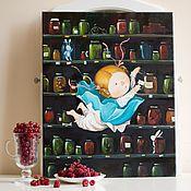 Картины и панно ручной работы. Ярмарка Мастеров - ручная работа картина Алиса. Handmade.