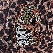 Материалы для творчества handmade. Livemaster - original item Embroidered leopard applique. Handmade.