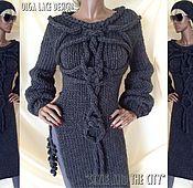 Одежда handmade. Livemaster - original item Stylish sweater dress from Olga Lace.