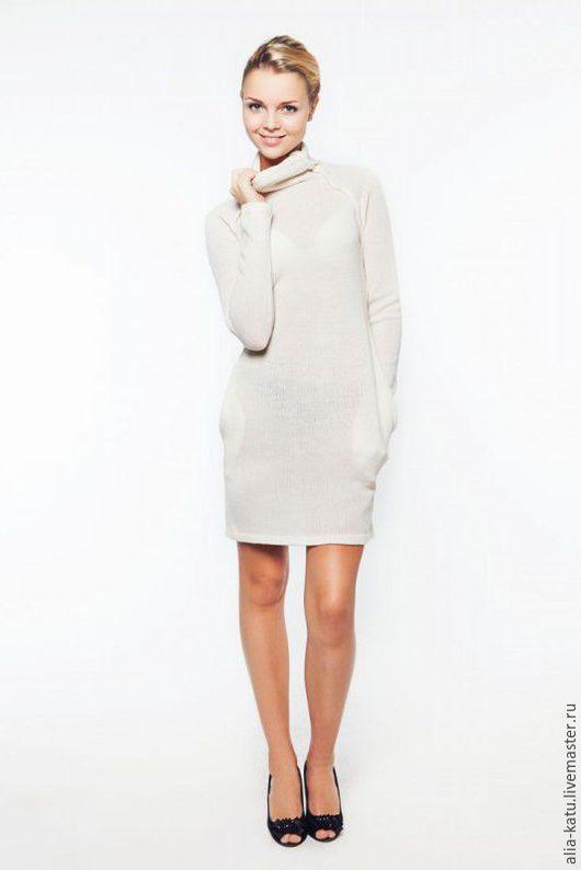 Платья ручной работы. Ярмарка Мастеров - ручная работа. Купить Платье с карманами. Handmade. Белый, платье с карманами белое