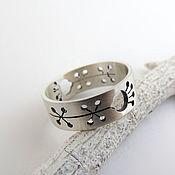 Украшения ручной работы. Ярмарка Мастеров - ручная работа Кольцо из серебра 925 без камней (серебро 925). Handmade.