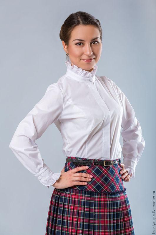 Одежда для девочек, ручной работы. Ярмарка Мастеров - ручная работа. Купить Красивая белая блузка, для девочек (Арт. 49). Handmade.