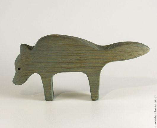 Игрушки животные, ручной работы. Ярмарка Мастеров - ручная работа. Купить Волк. Деревянная развивающая игрушка. Handmade. Серый