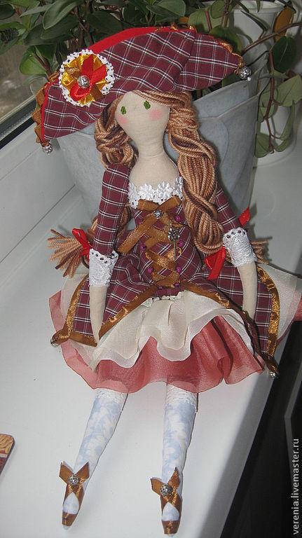 """Кукла в стиле """"Тильда"""". Балерина Коломбина"""