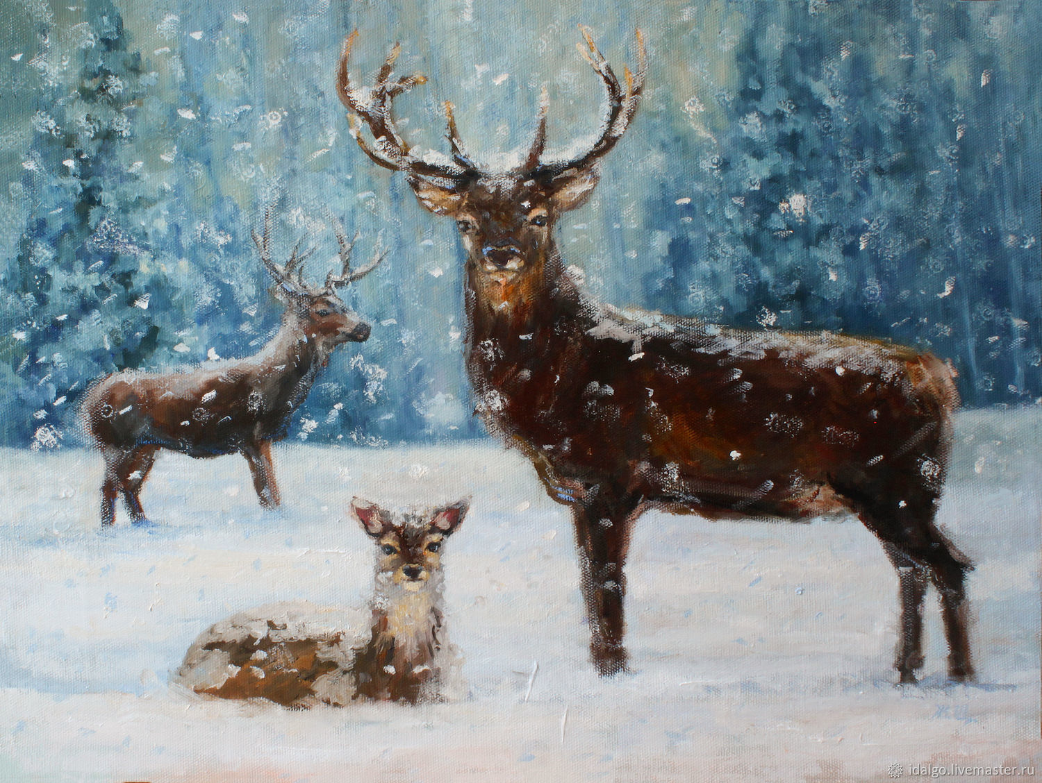 Oil painting 'In the realm of reindeer', Pictures, Nizhny Novgorod,  Фото №1