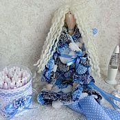 Куклы и игрушки handmade. Livemaster - original item Tilda bath angel, cotton swab holder. Handmade.