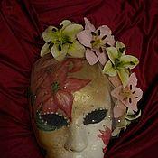 """Для дома и интерьера ручной работы. Ярмарка Мастеров - ручная работа Венецианская маска """"Невеста Лилия"""". Handmade."""