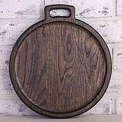 Для дома и интерьера handmade. Livemaster - original item Plate of dark oak with one handle. Handmade.