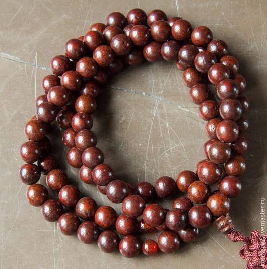 Для украшений ручной работы. Ярмарка Мастеров - ручная работа. Купить Тибетские красные бусины из семян бодхи разного диаметра. Handmade.