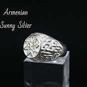 Украшения handmade. Livemaster - original item Men`s Ring Octagram made of 925 sterling silver GV0001. Handmade.