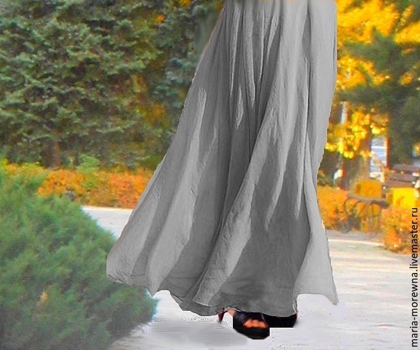Серая юбка в пол купить