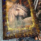 handmade. Livemaster - original item Notebook in leather cover White horse.. Handmade.