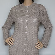Одежда handmade. Livemaster - original item Cardigan cashmere-silk-Merino