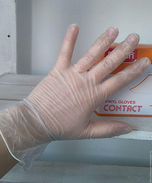 Другие виды рукоделия ручной работы. Ярмарка Мастеров - ручная работа. Купить Виниловые перчатки неопудренные Размер М. Handmade.
