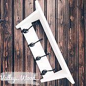 Для дома и интерьера handmade. Livemaster - original item White wooden hanger. Handmade.