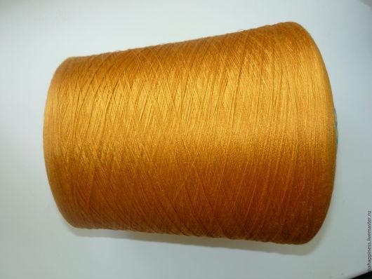 Вязание ручной работы. Ярмарка Мастеров - ручная работа. Купить Шелк натуральный HASEGAWA. Handmade. Оранжевый, шелк, шелк натуральный